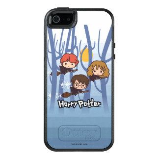 Coque OtterBox iPhone 5, 5s Et SE Bande dessinée Harry, Ron, et vol de Hermione en