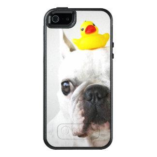Coque OtterBox iPhone 5, 5s Et SE Bouledogue français avec le canard en caoutchouc