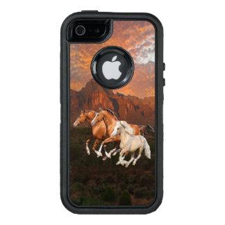Coque OtterBox iPhone 5, 5s Et SE Cas de téléphone de chevaux sauvages