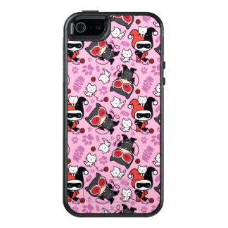 Coque OtterBox iPhone 5, 5s Et SE Catwoman de Chibi, Harley Quinn, et motif de