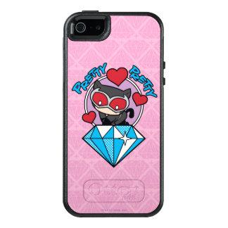 Coque OtterBox iPhone 5, 5s Et SE Catwoman de Chibi s'asseyant placé sur le grand