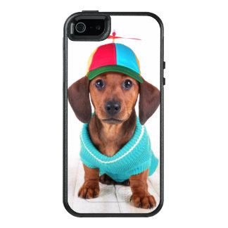 Coque OtterBox iPhone 5, 5s Et SE Chapeau de port de propulseur de chiot de teckel