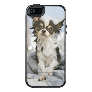 Coque OtterBox iPhone 5, 5s Et SE Chiot de chiwawa enveloppé dans une serviette