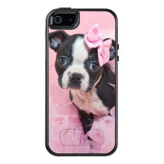 Coque OtterBox iPhone 5, 5s Et SE Chiot mignon superbe de Boston Terrier portant un