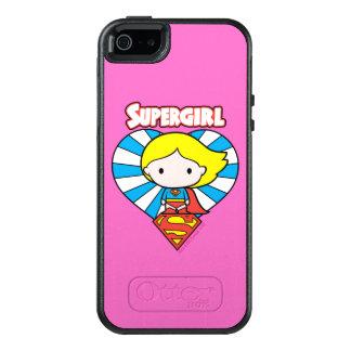 Coque OtterBox iPhone 5, 5s Et SE Coeur et logo de Chibi Supergirl Starburst