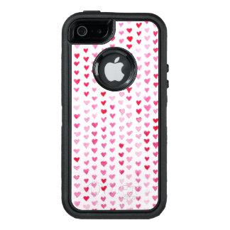 Coque OtterBox iPhone 5, 5s Et SE Coeurs d'aquarelle