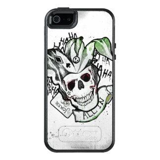 """Coque OtterBox iPhone 5, 5s Et SE Crâne de joker du peloton   de suicide """"tout dans"""""""