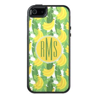 Coque OtterBox iPhone 5, 5s Et SE Feuille de banane et monogramme du motif | de