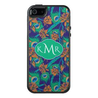 Coque OtterBox iPhone 5, 5s Et SE Fleurs et monogramme des plumes |