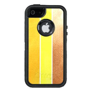 Coque OtterBox iPhone 5, 5s Et SE grand arrière - plan jaune d'aquarelle - aquarelle