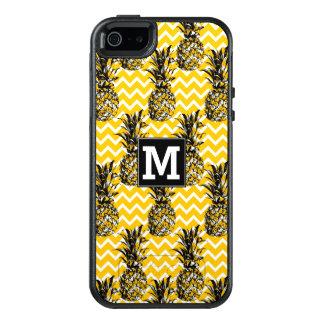 Coque OtterBox iPhone 5, 5s Et SE L'ananas zigzague monogramme de |