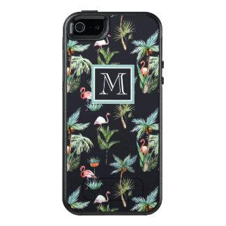 Coque OtterBox iPhone 5, 5s Et SE Le motif | de paume d'aquarelle ajoutent votre