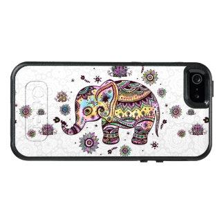 Coque OtterBox iPhone 5, 5s Et SE Le tribal coloré fleurit l'illustration d'éléphant