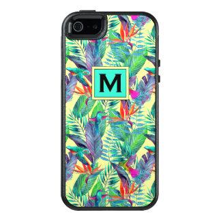 Coque OtterBox iPhone 5, 5s Et SE Les colibris d'aquarelle | ajoutent votre initiale