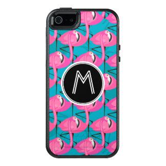 Coque OtterBox iPhone 5, 5s Et SE Les flamants au néon | ajoutent votre initiale