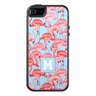 Coque OtterBox iPhone 5, 5s Et SE Les flamants roses lumineux sur le bleu | ajoutent
