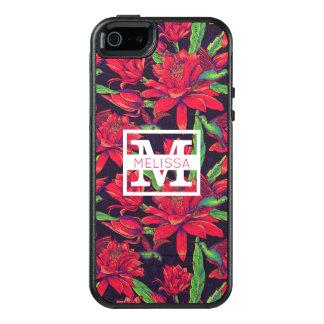 Coque OtterBox iPhone 5, 5s Et SE Les fleurs et les colibris | ajoutent votre nom