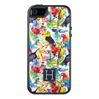 Coque OtterBox iPhone 5, 5s Et SE Les perroquets colorés d'aquarelle | ajoutent