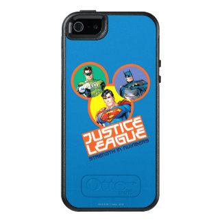 """Coque OtterBox iPhone 5, 5s Et SE Ligue de justice """"force dans les nombres """""""