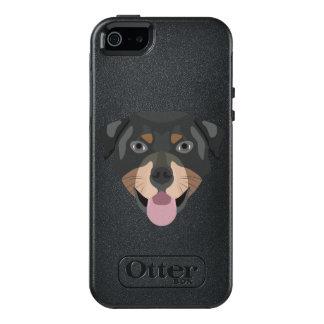 Coque OtterBox iPhone 5, 5s Et SE L'illustration poursuit le rottweiler de visage