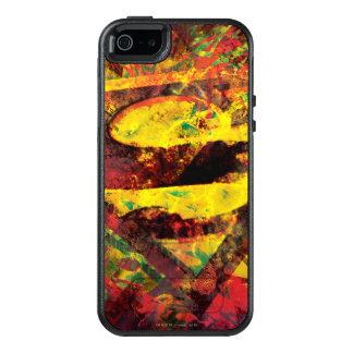 Coque OtterBox iPhone 5, 5s Et SE Logo grunge du S-Bouclier   de Superman