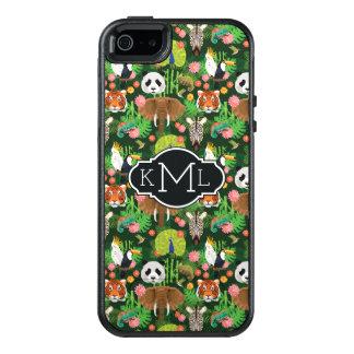 Coque OtterBox iPhone 5, 5s Et SE Monogramme animal tropical du mélange |