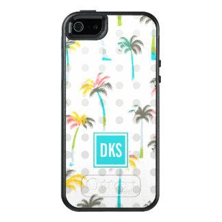 Coque OtterBox iPhone 5, 5s Et SE Monogramme des palmiers | d'aquarelle