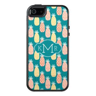 Coque OtterBox iPhone 5, 5s Et SE Monogramme du motif | de griffonnage d'ananas