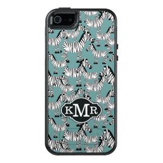 Coque OtterBox iPhone 5, 5s Et SE Monogramme du motif | de zèbre
