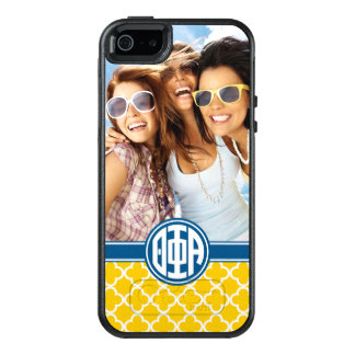 Coque OtterBox iPhone 5, 5s Et SE Monogramme et photo de l'alpha | de phi de thêta