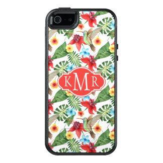 Coque OtterBox iPhone 5, 5s Et SE Monogramme tropical du colibri |