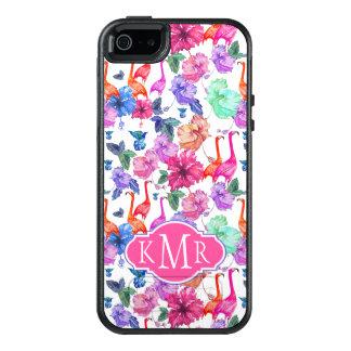 Coque OtterBox iPhone 5, 5s Et SE Monogramme tropical du motif | d'aquarelle