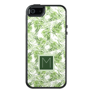 Coque OtterBox iPhone 5, 5s Et SE Monogramme vert des palmettes |