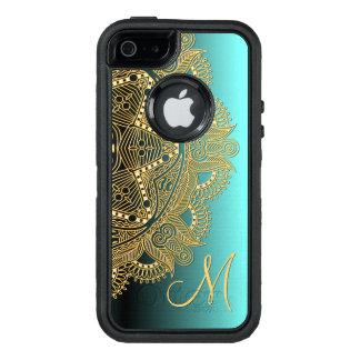 Coque OtterBox iPhone 5, 5s Et SE Motif brillant de mandala d'or de Faux à la mode