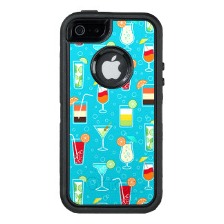 Coque OtterBox iPhone 5, 5s Et SE Motif de cocktail sur l'arrière - plan turquoise