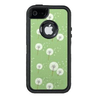 Coque OtterBox iPhone 5, 5s Et SE Motif de pissenlit sur l'arrière - plan vert