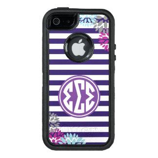 Coque OtterBox iPhone 5, 5s Et SE Motif de rayure de monogramme du sigma | de sigma