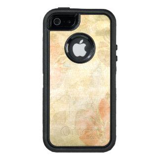 Coque OtterBox iPhone 5, 5s Et SE motif grunge floral d'arrière - plan d'art