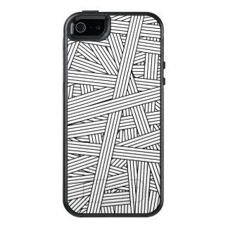 Coque OtterBox iPhone 5, 5s Et SE Motif noir et blanc de désordre de rayures