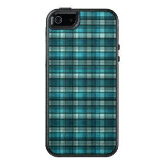 Coque OtterBox iPhone 5, 5s Et SE Motif turquoise vibrant et moderne de plaid