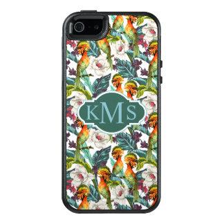 Coque OtterBox iPhone 5, 5s Et SE Oiseau et monogramme exotique du motif de fleur |