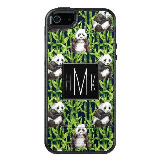 Coque OtterBox iPhone 5, 5s Et SE Panda avec le monogramme en bambou du motif |