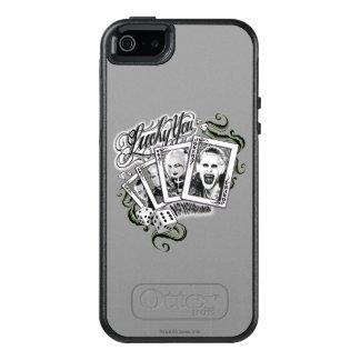 """Coque OtterBox iPhone 5, 5s Et SE Peloton de suicide   """"chanceux vous"""" cartes de jeu"""