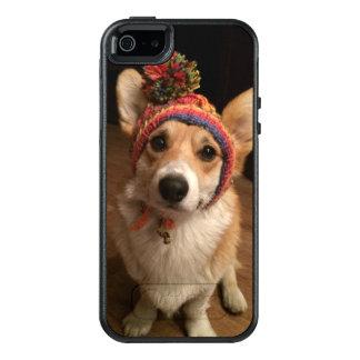 Coque OtterBox iPhone 5, 5s Et SE Pembroke de corgi de Gallois utilisant un chapeau