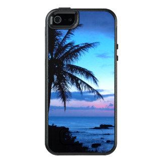 Coque OtterBox iPhone 5, 5s Et SE Photo bleue de coucher du soleil d'île de plage de