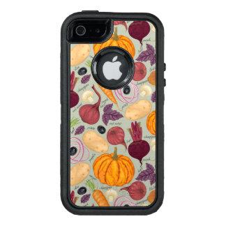 Coque OtterBox iPhone 5, 5s Et SE Rétro arrière - plan des légumes frais