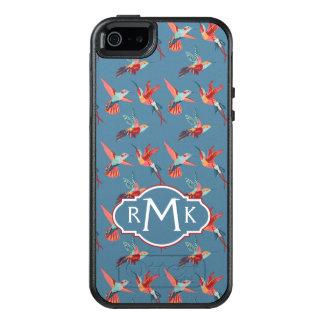 Coque OtterBox iPhone 5, 5s Et SE Rétro monogramme du motif | de colibri