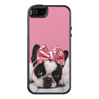 Coque OtterBox iPhone 5, 5s Et SE Rose de port de bouledogue français