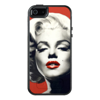 Coque OtterBox iPhone 5, 5s Et SE Rouge sur les lèvres rouges Marilyn