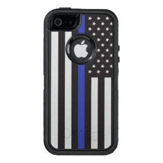 Coque OtterBox iPhone 5, 5s Et SE Soutenez le drapeau américain mince de Blue Line